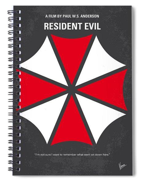 No119 My Resident Evil Minimal Movie Poster Spiral Notebook