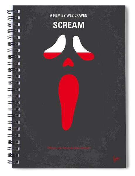 No121 My Scream Minimal Movie Poster Spiral Notebook