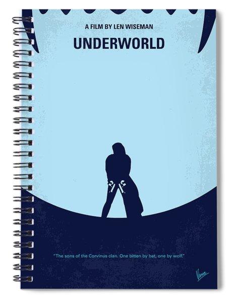 No122 My Underworld Minimal Movie Spiral Notebook