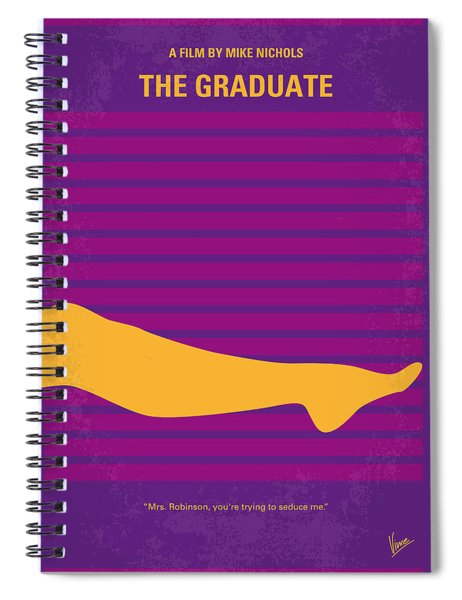 No135 My The Graduate Minimal Movie Poster Spiral Notebook by Chungkong Art