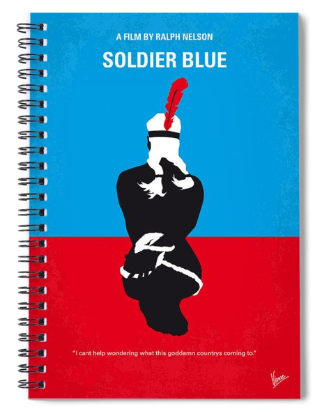 No136 My Soldier Blue Minimal Movie Poster Spiral Notebook