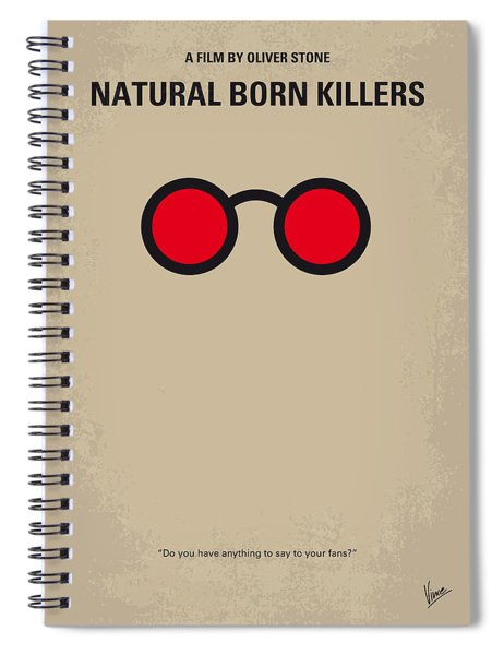 No139 My Natural Born Killers Minimal Movie Poster Spiral Notebook