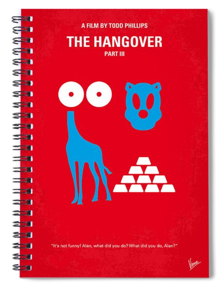 No145 My The Hangover Part 3 Minimal Movie Poster Spiral Notebook