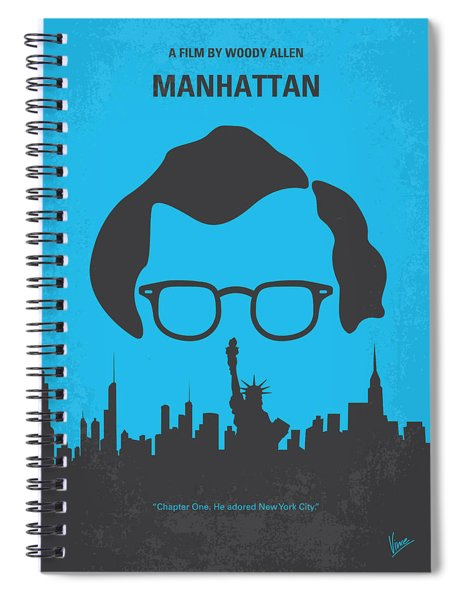 No146 My Manhattan Minimal Movie Poster Spiral Notebook
