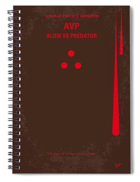 No148 My Avp Minimal Movie Poster Spiral Notebook