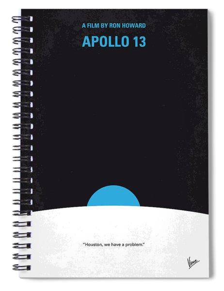 No151 My Apollo 13 Minimal Movie Poster Spiral Notebook