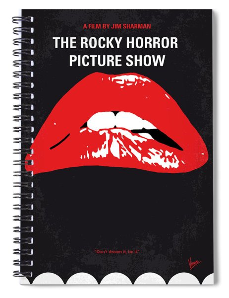 No153 My The Rocky Horror Picture Show Minimal Movie Poster Spiral Notebook