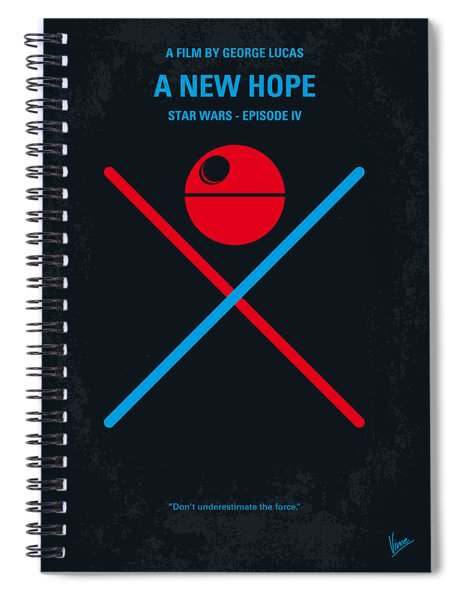 No154 My Star Wars Episode Iv A New Hope Minimal Movie Poster Spiral Notebook