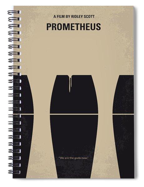 No157 My Prometheus Minimal Movie Poster Spiral Notebook