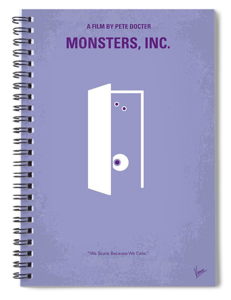 No161 My Monster Inc Minimal Movie Poster Spiral Notebook