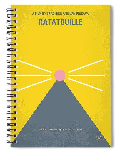 No163 My Ratatouille Minimal Movie Poster  Spiral Notebook