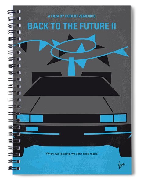 No183 My Back To The Future Minimal Movie Poster-part II Spiral Notebook