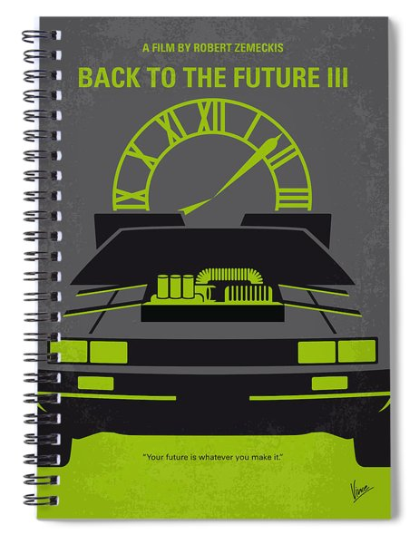 No183 My Back To The Future Minimal Movie Poster-part IIi Spiral Notebook