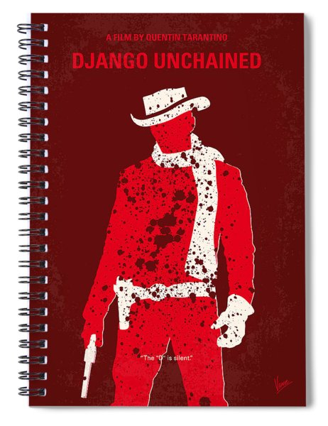 No184 My Django Unchained Minimal Movie Poster Spiral Notebook