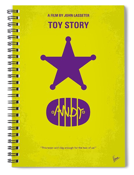 No190 My Toy Story Minimal Movie Poster Spiral Notebook by Chungkong Art