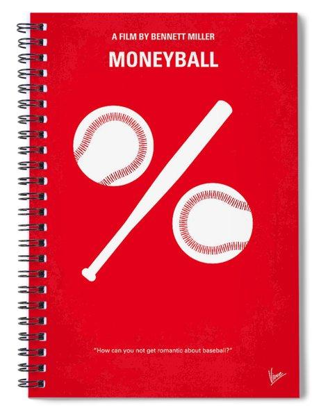 No191 My Moneyball Minimal Movie Poster Spiral Notebook