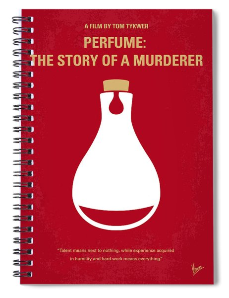 No194 My Perfume The Story Of A Murderer Minimal Movie Poster Spiral Notebook