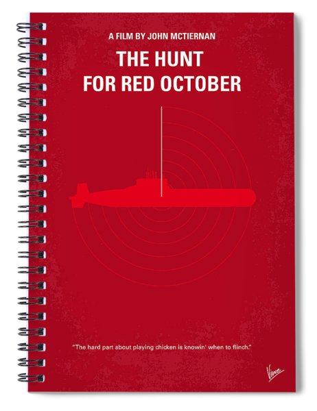 No198 My The Hunt For Red October Minimal Movie Poster Spiral Notebook