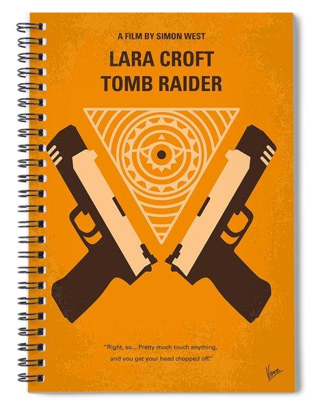 No209 Lara Croft Tomb Raider Minimal Movie Poster Spiral Notebook by Chungkong Art
