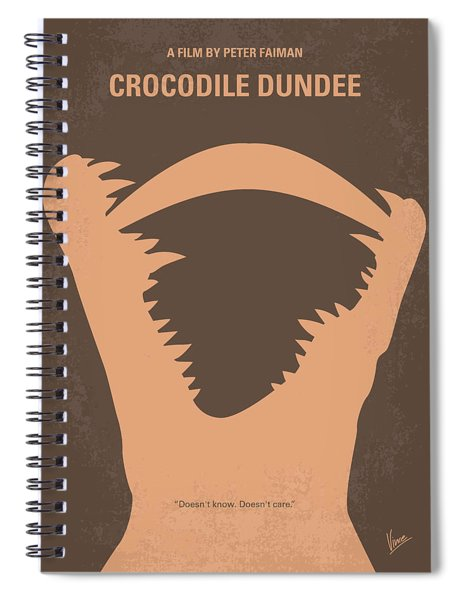 No210 My Crocodile Dundee Minimal Movie Poster Spiral Notebook