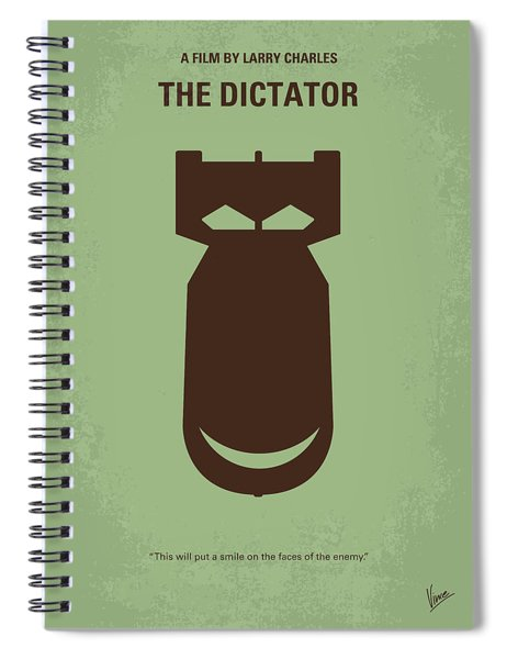 No212 My The Dictator Minimal Movie Poster Spiral Notebook