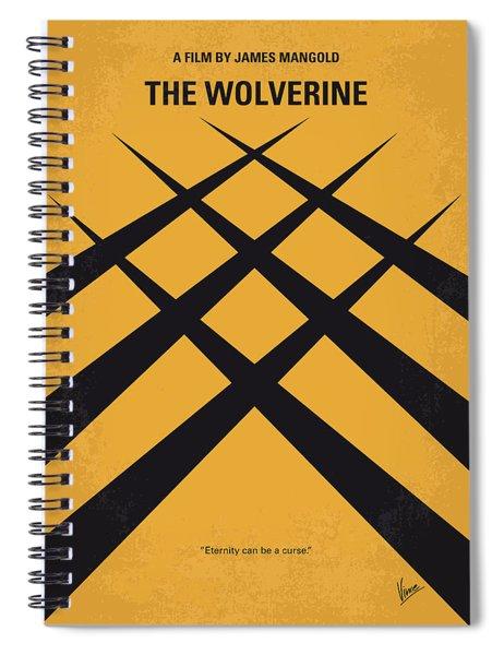 No222 My Wolverine Minimal Movie Poster Spiral Notebook