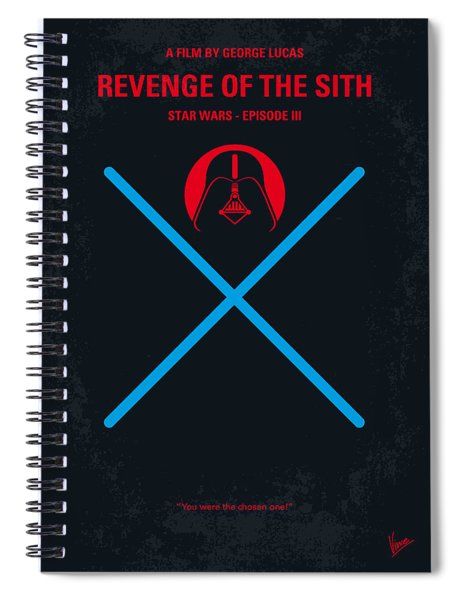 No225 My Star Wars Episode IIi Revenge Of The Sith Minimal Movie Poster Spiral Notebook