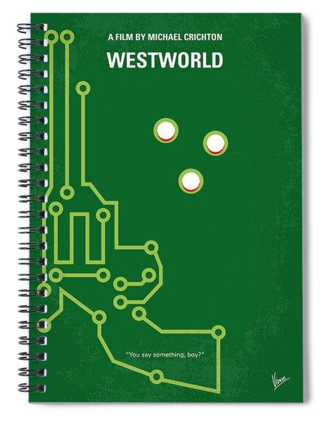 No231 My Westworld Minimal Movie Poster Spiral Notebook