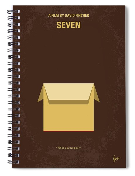 No233 My Seven Minimal Movie Poster Spiral Notebook