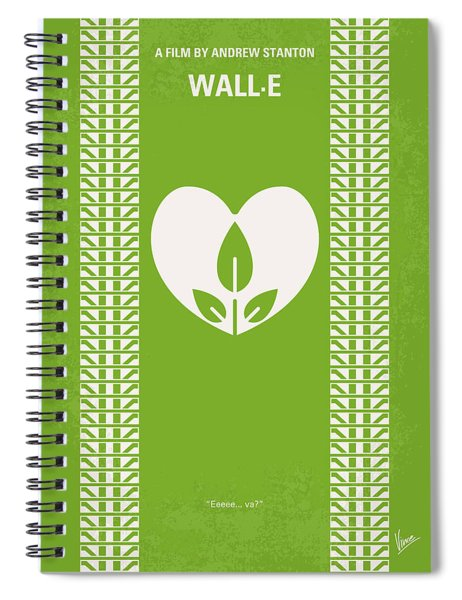 No235 My Wall-e Minimal Movie Poster Spiral Notebook