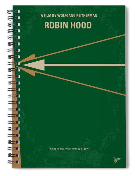 No237 My Robin Hood Minimal Movie Poster Spiral Notebook
