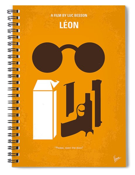 No239 My Leon Minimal Movie Poster Spiral Notebook