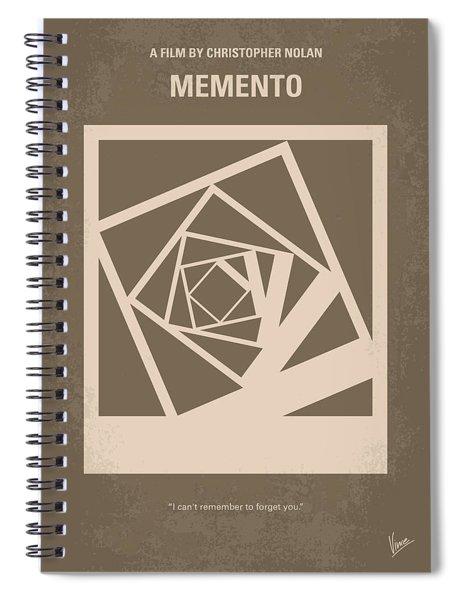 No243 My Memento Minimal Movie Poster Spiral Notebook