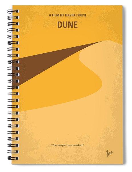 No251 My Dune Minimal Movie Poster Spiral Notebook