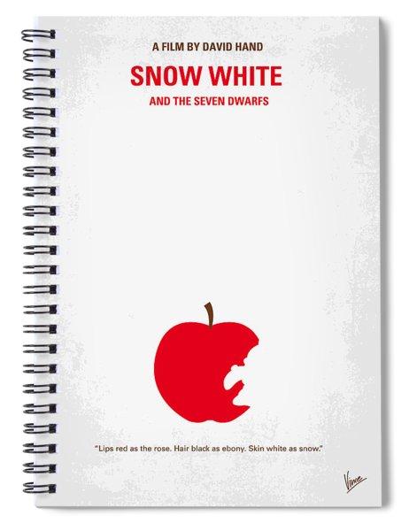 No252 My Snow White Minimal Movie Poster Spiral Notebook