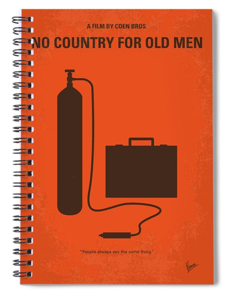 No253 My No Country For Old Men Minimal Movie Poster Spiral Notebook