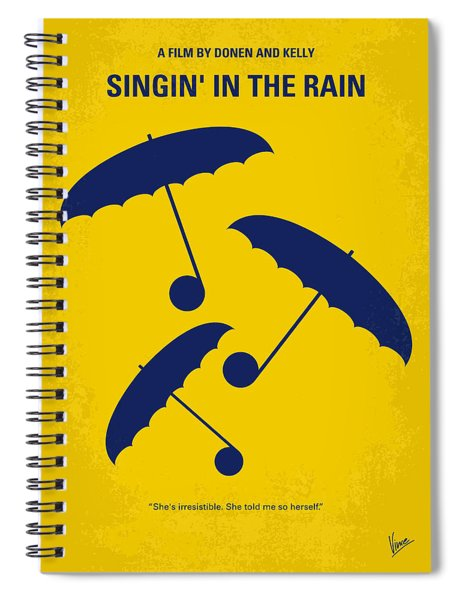 No254 My Singin In The Rain Minimal Movie Poster Spiral Notebook