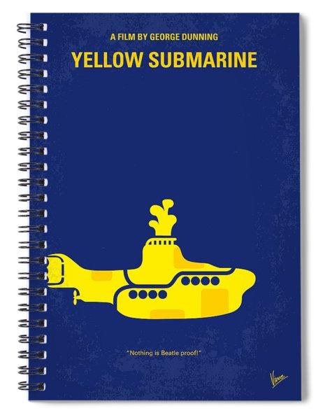 No257 My Yellow Submarine Minimal Movie Poster Spiral Notebook