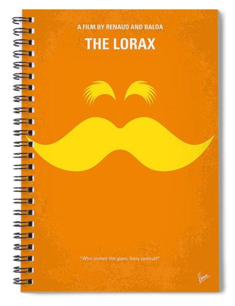 No261 My The Lorax Minimal Movie Poster Spiral Notebook by Chungkong Art