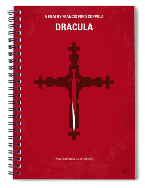 No263 My Dracula Minimal Movie Poster Spiral Notebook