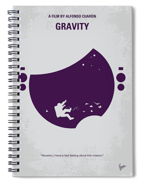 No269 My Gravity Minimal Movie Poster Spiral Notebook