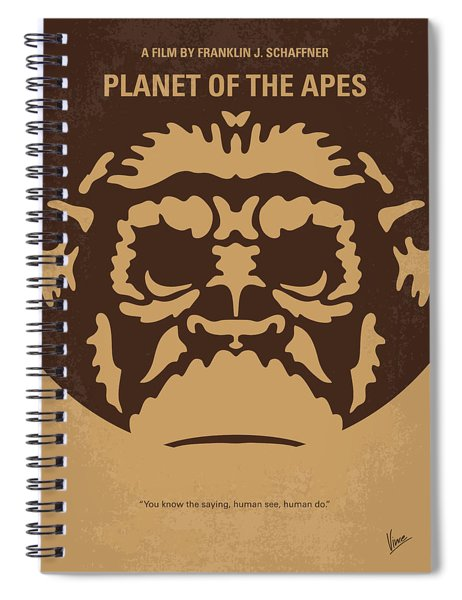 No270 My Planet Of The Apes Minimal Movie Poster Spiral Notebook