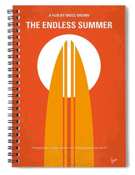 No274 My The Endless Summer Minimal Movie Poster Spiral Notebook by Chungkong Art