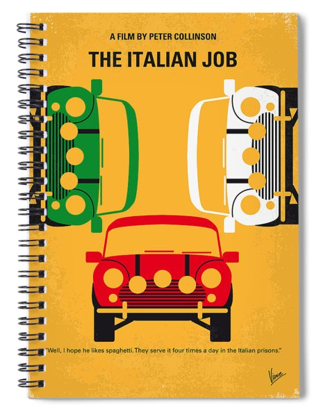 No279 My The Italian Job Minimal Movie Poster Spiral Notebook