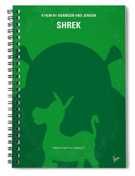 No280 My Shrek Minimal Movie Poster Spiral Notebook