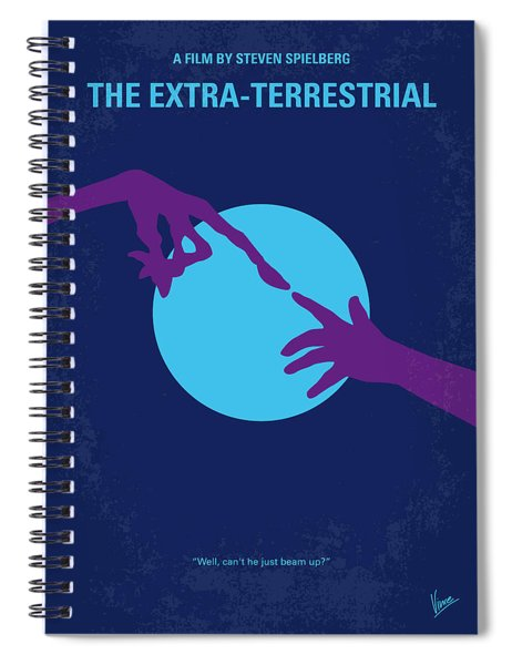 No282 My Et Minimal Movie Poster Spiral Notebook