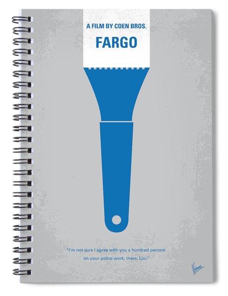 No283 My Fargo Minimal Movie Poster Spiral Notebook