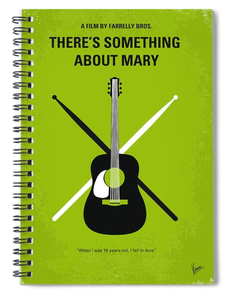 No286 My There's Something About Mary Minimal Movie Poster Spiral Notebook