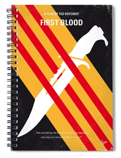 No288 My Rambo First Blood Minimal Movie Poster Spiral Notebook