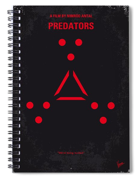 No289 My Predators Minimal Movie Poster Spiral Notebook